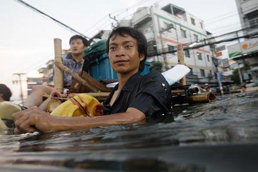 タイの洪水被害