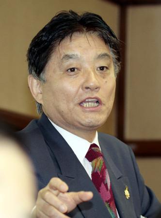 名古屋市の河村たかし市長=名古屋市役所で2012年2月27日