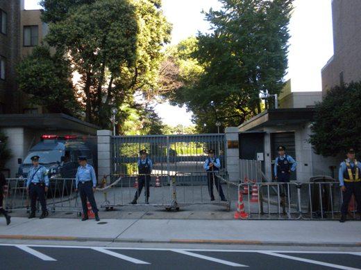 支那大使館(2010年9月25日、在特会主催「シナ中共への緊急抗議活動」)