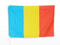創価学会のシンボルカラー、赤・黄・青の三色旗