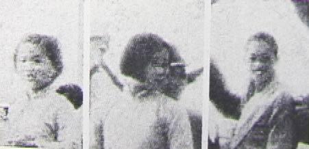 我が兵士に護られて野良仕事より部落へかえる日の丸部落の女子供の群 『アサヒグラフ』1937年11月10日号