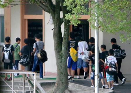 大津市立中学では7月20日、終業式が行われた=滋賀県大津市