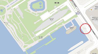 開催場所はお台場船の科学館脇のウッドデッキになります