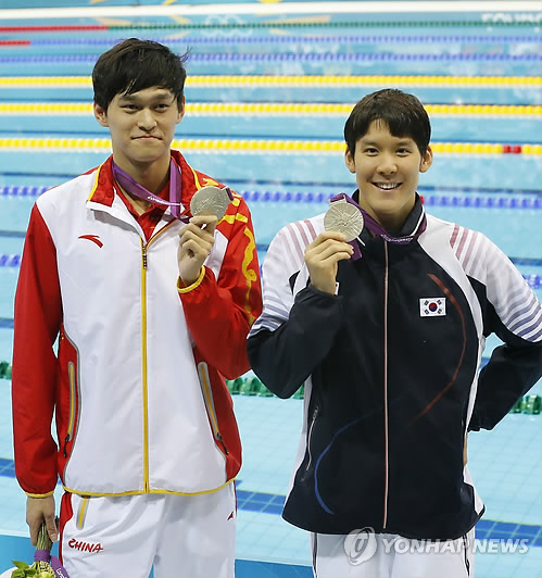 速報:朴泰桓「失格」取り消し 決勝へ=競泳男子400自由形