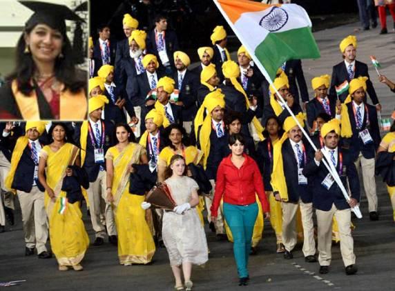 五輪開会式に謎の女性紛れ込む インド選手団と仲良く行進し、その後逃亡