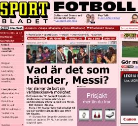 スウェーデンメディアも報道。「メッシに何が起きた?」