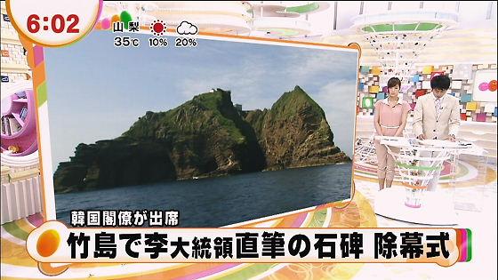 フジ めざましテレビ 竹島で李大統領直筆の石碑 除幕式
