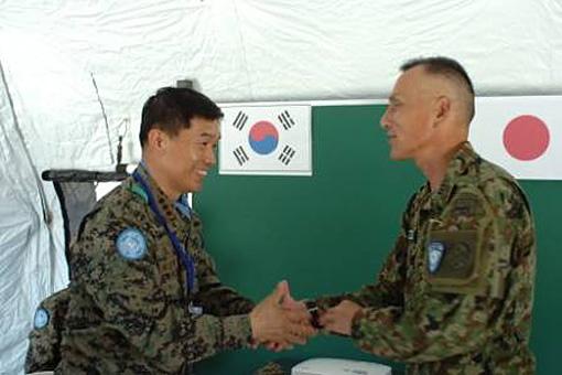 画:ハイチ国際平和協力業務(PKO)での日韓交流「防衛省より」