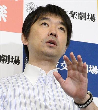 次期衆院選への自身の出馬は改めて否定した橋下徹大阪市長
