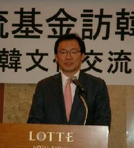 「日韓文化交流基金」の内田富夫理事長は外務省OB