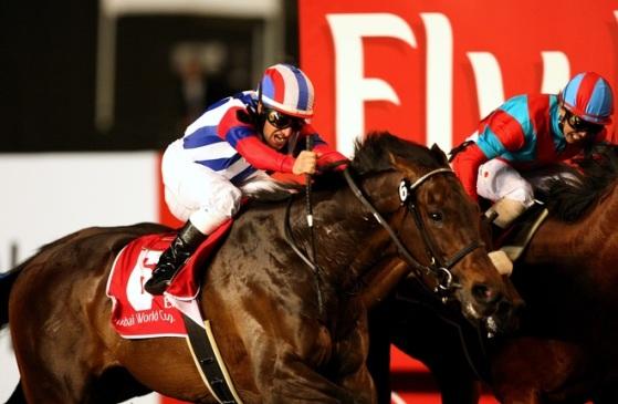 世界最高峰レースの「ドバイワールドカップ」でM・デムーロ騎手騎乗のヴィクトワールピサが日本馬として初優勝!