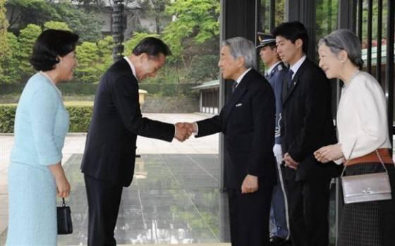 李明博韓国大統領夫妻