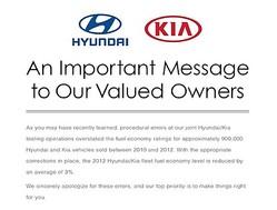 燃費水増し問題に対する現代・起亜の謝罪広告