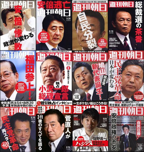 週刊朝日の歴代の表紙