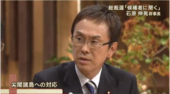2012年9月11日 テレビ朝日「報道ステーション」「自民総裁選 候補者に聞く」