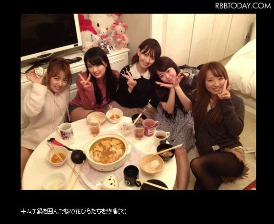 AKB48高橋みなみが篠田麻里子のブログに登場、元気な姿見せる 「みなみがキムチ鍋を作ってくれました」