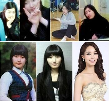 2012年ミスコリア、真キム・ユミ(22)の整形前写真と整形後写真