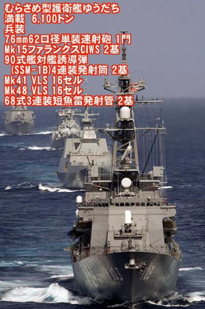 海自第7護衛隊の護衛艦「ゆうだち」