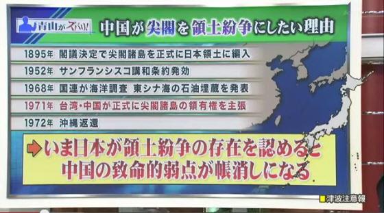 いま日本が領土問題の存在を認めると中国の致命的弱点が帳消しになる