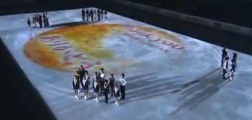 フィギュァNHK杯でNHKは日の丸をわざと変な形にゆがませて四隅に選手を並べて太極旗を作りました。