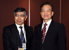 温家宝総理、アジア開発銀行の黒田総裁と会談