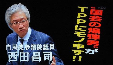 西田昌司議員2013年3月4日放送の「ビートたけしのTVタックル」よりTPPに日韓問題等々