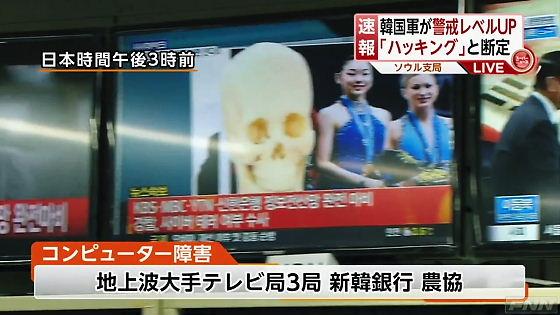 3月20日フジテレビスーパーニュースフジテレビが浅田真央をドクロで隠した韓国の映像を繰り返し使用して放送