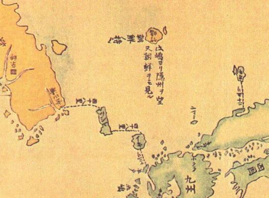 韓国人は、日本の江戸時代の林子平著作の地理書「三国通覧図説」に掲載された「三国通覧輿地路程全図」を見て、「明らかに対馬を朝鮮の領土と分類した」と主張した