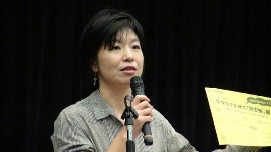 ↓「女たちの戦争と平和資料館」事務局長の渡辺美奈さんが「慰安婦」問題で全面反論