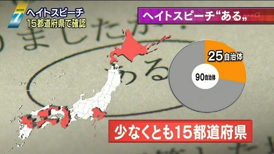 ヘイトスピーチ 15都道府県で確認9月23日 NHKニュース
