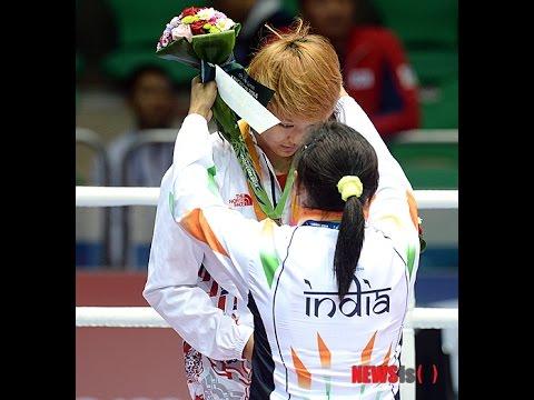 インドのサリタデビ選手が表彰式で銅メダル拒否 ボクシング女子 韓国アジア大会