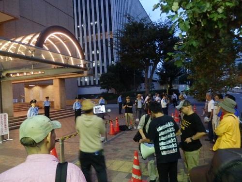 【朝日新聞廃刊要求デモ】平成26年(2014年)10月4日、銀座、新橋、築地