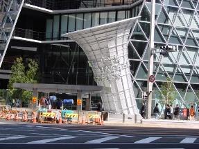 名古屋モード学園のビルの吸気口。