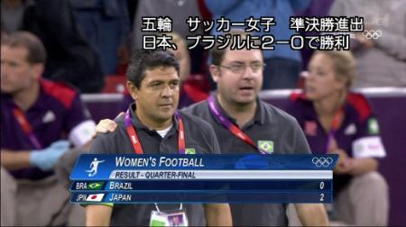 <ロンドン五輪>サッカー女子準々決勝で日本に完敗したブラジルのジョルジュ・バルセロス監督(44)は試合後の会見で「今日のような試合をしていたら日本は優勝できない。守備的だった。日本はまったく勝利に値し
