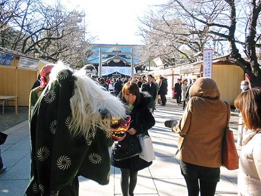 平成25年1月4日午後の靖国神社の様子