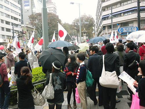 2011.11.6フジテレビ偏向報道周知デモ
