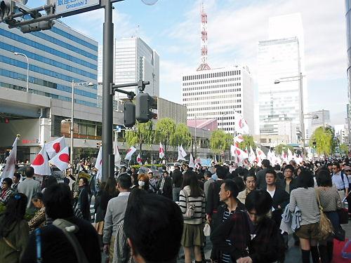 2011.11.20電通・朝日新聞抗議デモ