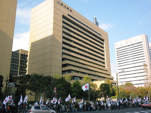 2011.11.20フジテレビ抗議デモwith電通・朝日新聞抗議デモ