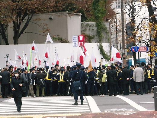 12.14韓国水曜デモ1000回アクションIN TOKYOへの抗議行動