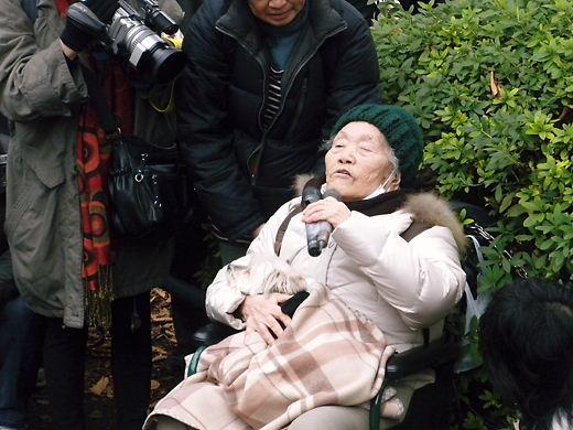 12.14韓国水曜デモ1000回アクションIN TOKYO 自称元慰安婦