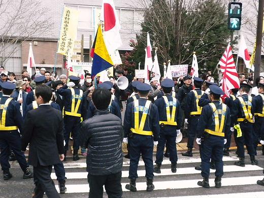 慰安婦の嘘を許すな!韓国水曜デモ1000回アクション in TOKYOへの抗議行動!