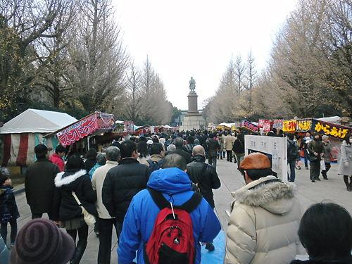 平成24年1月2日、靖国神社に初詣