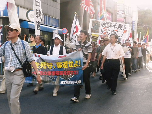 韓国征伐国民大行進(2012年8月25日、新宿)