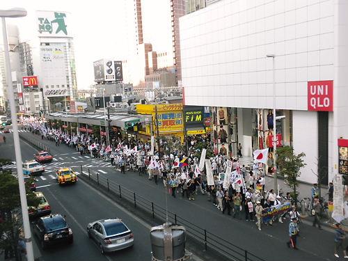 韓国征伐国民大行進(2012年8月25日、新宿)新宿駅西口