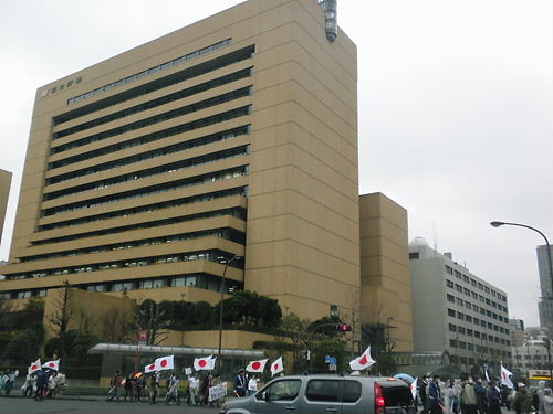 2012.1.21第二回電通・朝日新聞抗議デモ