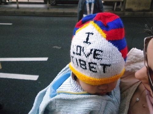 I love Tibet帽子をかぶった愛国赤ちゃん発見!
