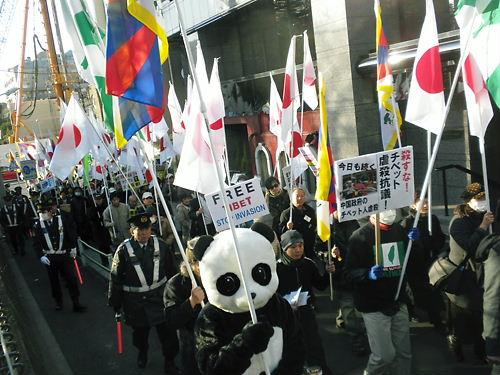 2012.2.4殺すな!チベット虐殺抗議!緊急国民行動