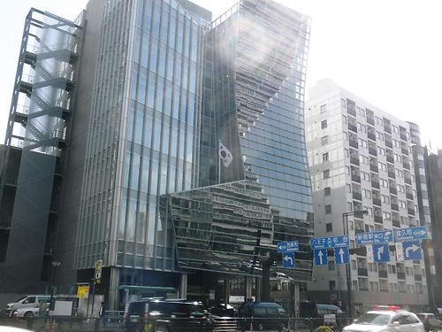 4月1日、在特会、韓国大使館に抗議文を提出(四谷)