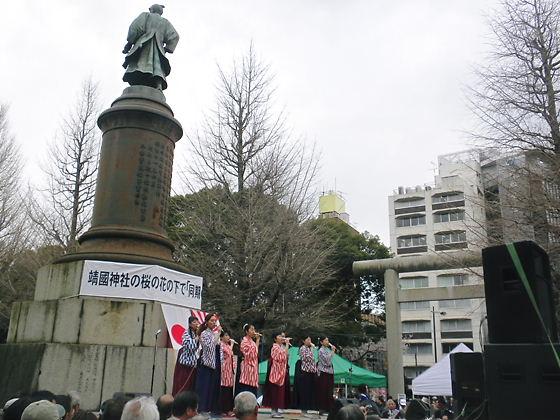 28回「靖國神社の桜の花の下で同期の桜を歌う会」平成24年4月7日14時45分~15:45