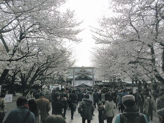 平成24年4月7日、靖国神社